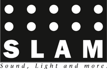 SLAM – Sound, Light and more. Logo
